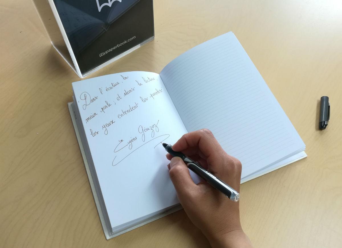 carnet écriture manuscrite